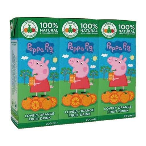 121婦嬰用品館:PeppaPig粉紅豬小妹(佩佩豬)柳橙風味果汁200ml(3入組)『121婦嬰用品館』