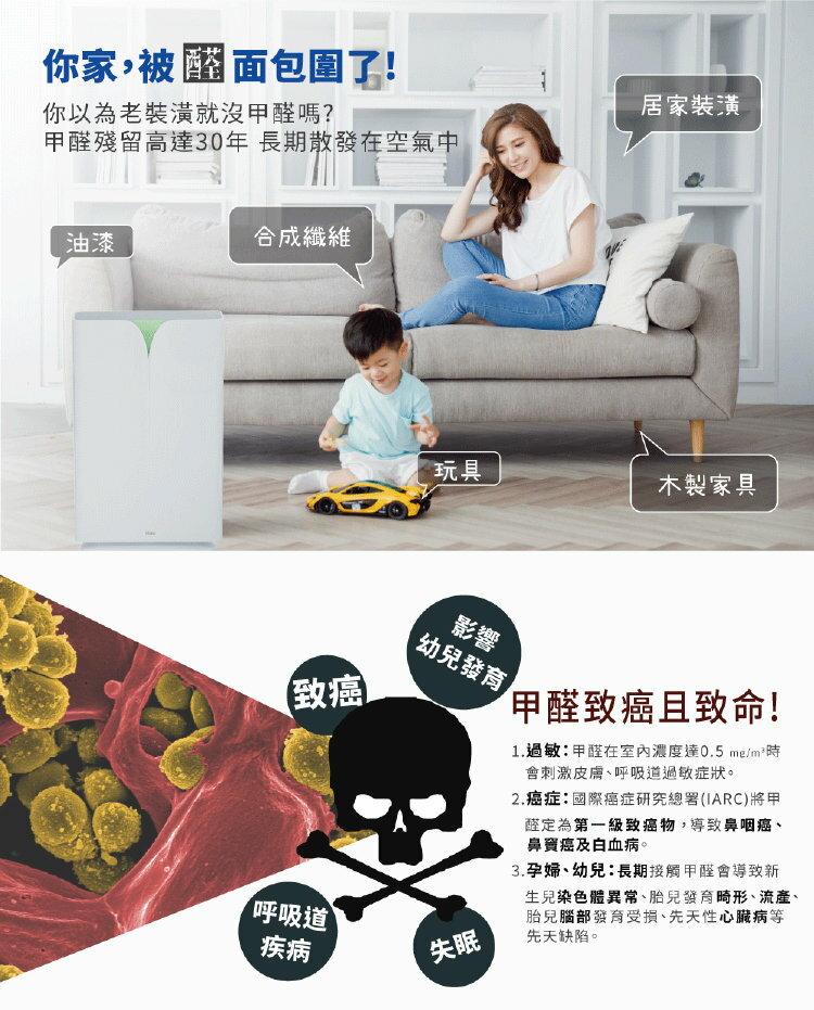 【Haier 海爾】醛效抗敏大H空氣清淨機 AP450 抗PM2.5  /  除甲醛(加碼送專屬濾網) 9