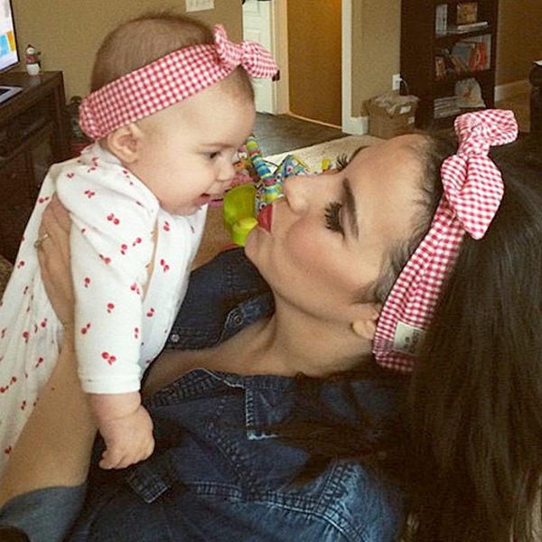 PS Mall 親子款時尚兒童寶寶碎花彈力棉髮帶頭帶 【J797】