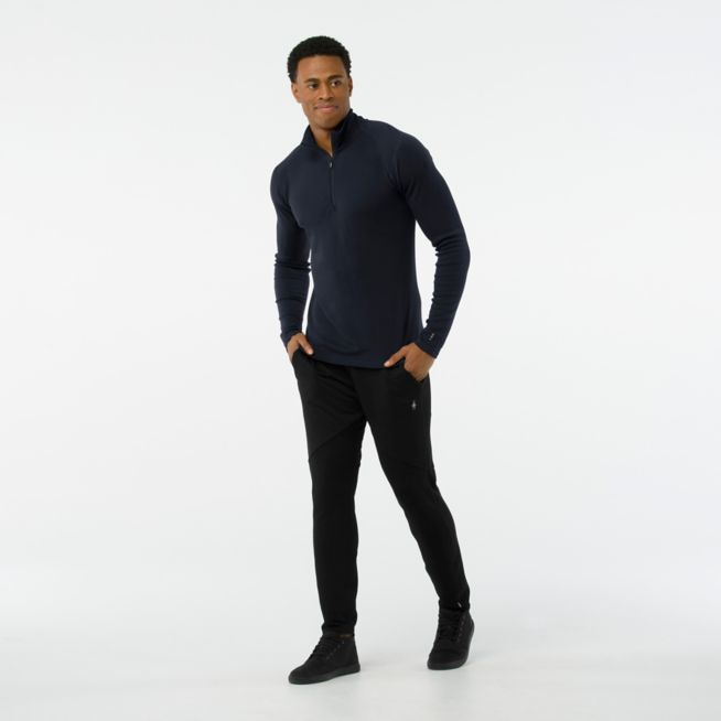 Smartwool\tM's Merino 250 Base Layer 1/4 Zip 美麗諾羊毛長袖拉鍊底層保暖衣-深海軍藍\tSW0SS603092\tSW052\t【Happy Outdoor