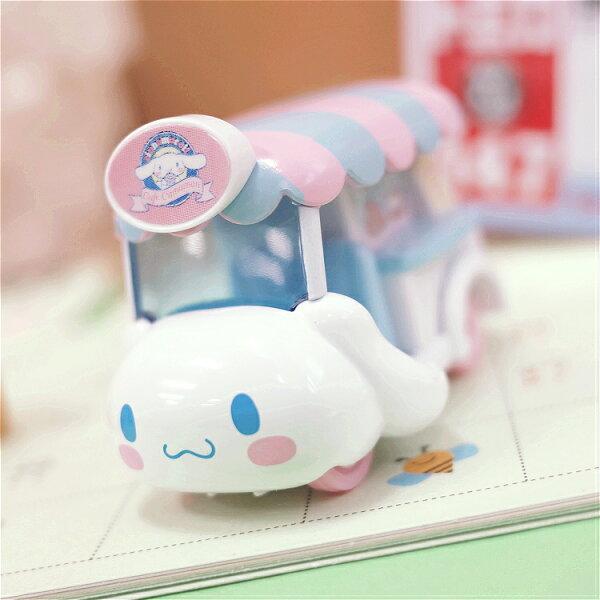 PGS7日本三麗鷗系列商品-大耳狗Cinnamoroll夢幻行動咖啡車小汽車車【STA71038】