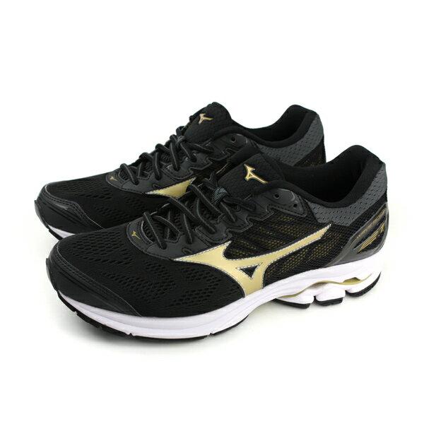 HUMAN PEACE:美津濃MizunoWAVERIDER212E慢跑鞋黑色男鞋J1GC180550no047