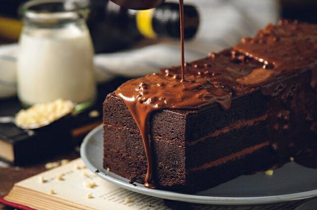 70%比利時黑巧克黑金磚【免運】-70%濃郁巧克力外皮、蛋糕體、內餡,與杏仁碎果的美味交融★樂天歡慶母親節滿499免運 5