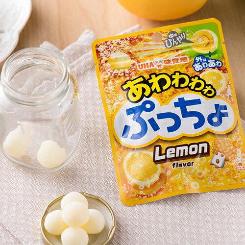 【UHA味覺糖】噗啾檸檬汽水糖 超酸碳酸糖 24g 日本零食