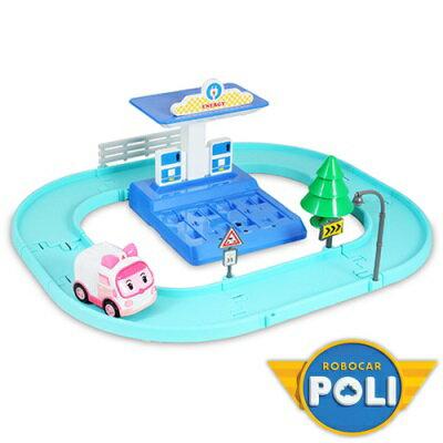 Poli波力 安寶電動車+充電站遊戲組