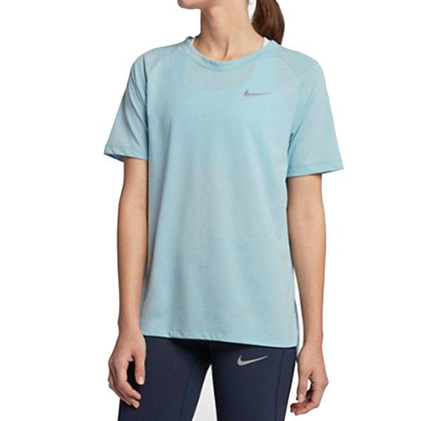 NIKETAILWIND女裝短袖慢跑訓練柔軟透氣乾爽水藍【運動世界】890192-452