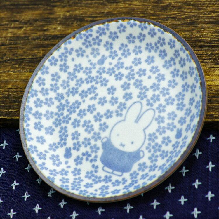 又敗家@日本製造金正陶器美濃燒和小紋小碟子小皿212163米菲兔Miffy(瓷製;直徑12cm)小白兔餐盤小盤子陶瓷盤子