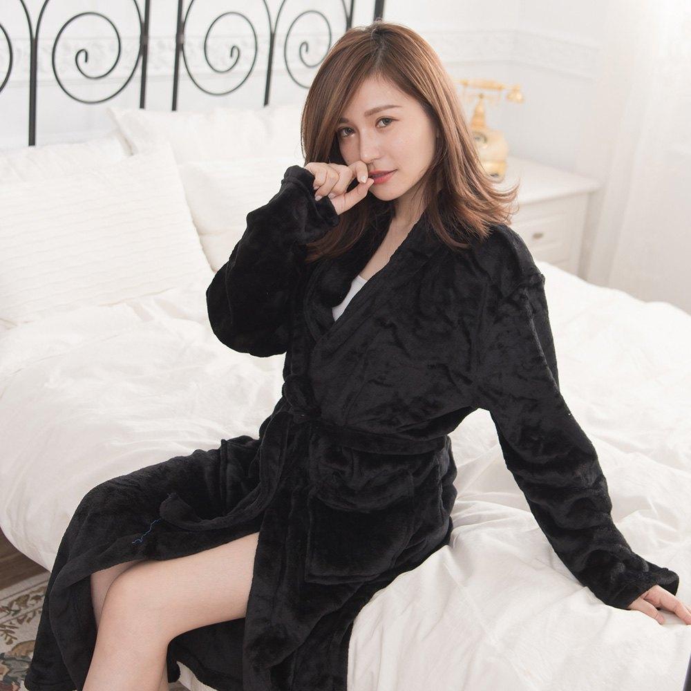 M / L / XL法蘭絨男女浴袍睡袍(經典紅 / 經典白 / 經典黑) 8