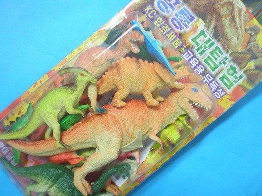 恐龍公仔 仿真恐龍模型 軟質空心^(17隻入混款^)  一卡入 ^~ 促180 ^~ 侏羅