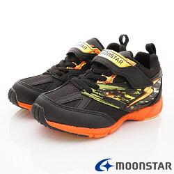日本月星頂級競速童鞋 2E勝戰獸運動系列 SSJ8676黑(中大童段)