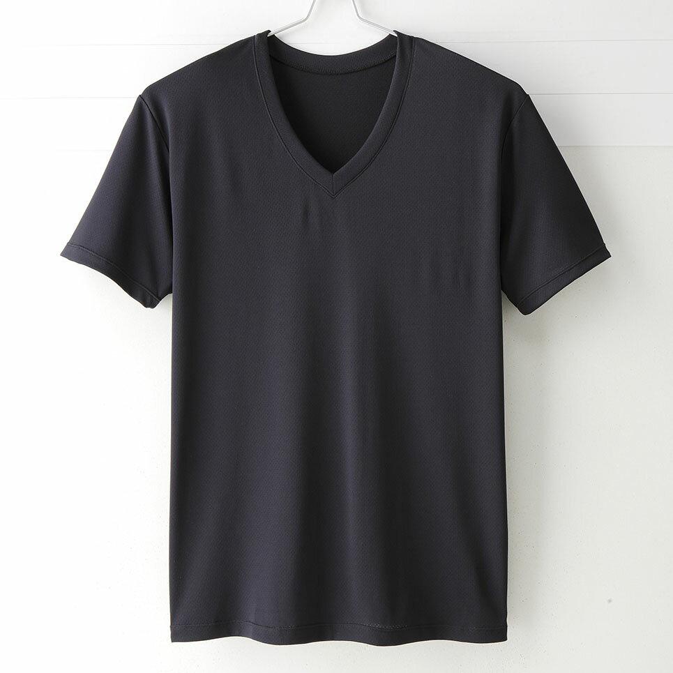 ~MIGER密格內衣~型男超快乾吸排機能V領短袖衫~透氣網眼  黑 ~ 製~ 編號:301