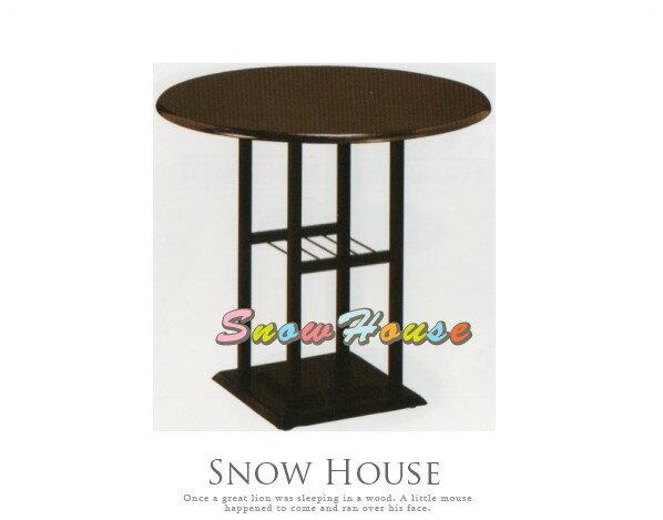 ╭☆雪之屋居家生活館☆╯AA778-08 712B烤黑實木圓桌/飯桌/置物桌/咖啡桌/餐桌/胡桃噴漆