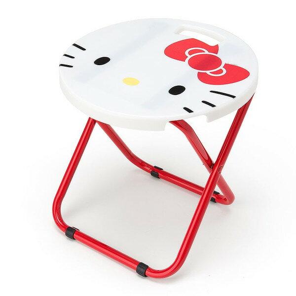 X射線【C023228】Hello Kitty 折疊椅-臉,兒童沙發椅/收納椅/造型椅/折疊椅/凳子/矮凳/板凳/椅子