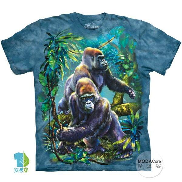 【摩達客】(預購)美國進口TheMountain叢林大猩猩純棉環保藝術中性短袖T恤