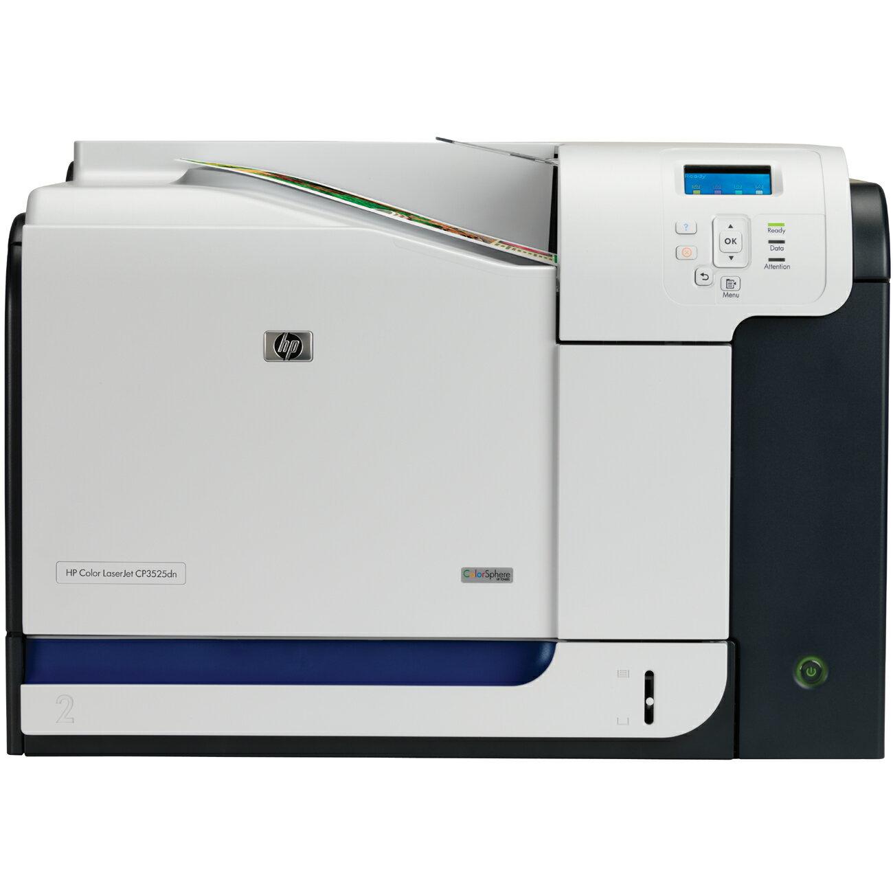 HP LaserJet CP3525dn Color Laser Printer 0