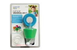 澳洲 Cherub Baby 萬用 矽膠 防漏杯蓋 兩入組-藍綠