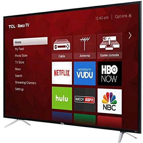 TCL 65 Inch 4K 120Hz Ultra HD Dual Band Roku Smart LED TV (Black) - 65S405