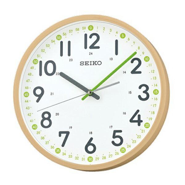 掛鐘SEIKO精工仿木紋綠針時鐘【NV87】原廠公司貨