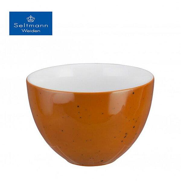 德國百年名瓷頂著皇冠的雪曼威登湯碗(珊瑚紅)14.5cm▶全館滿499免運