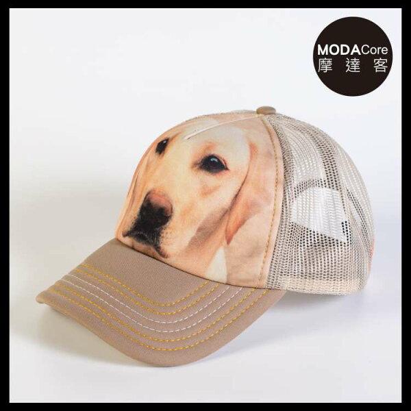 【摩達客】(預購)美國進口TheMountain黃拉不拉多犬臉藝術棒球帽網帽5-Panel新五分割帽