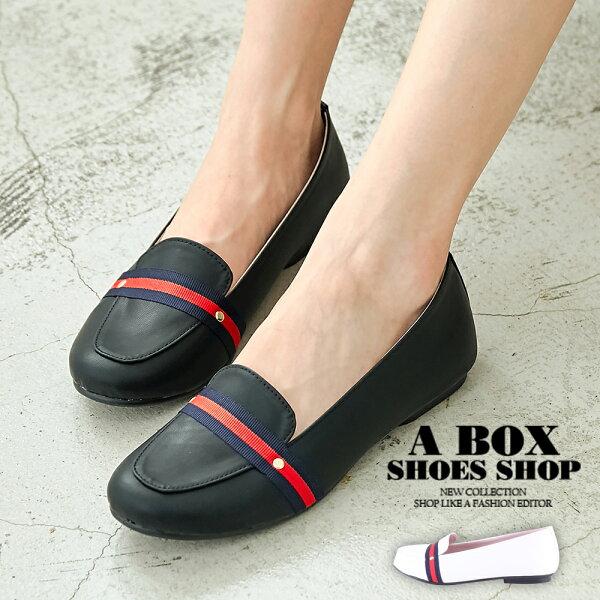 【AW651】1.5CM休閒鞋優雅女伶緞帶舒適皮革休閒鞋圓頭包鞋MIT台灣製2色