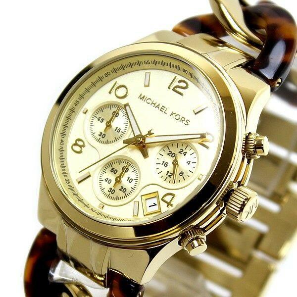 美國Outlet正品代購 MichaelKors MK 玳瑁三環 手鍊 手錶 腕錶 MK4222 5