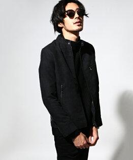 騎士外套麂皮黑色