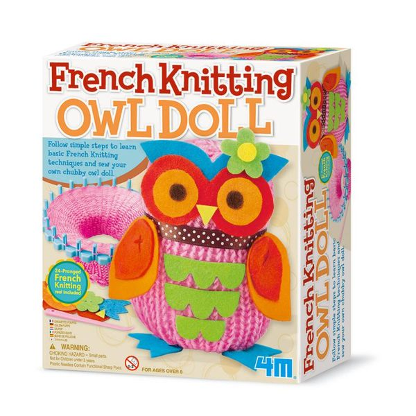 【4M 創意 DIY】French Knitting Owl Doll貓頭鷹娃娃