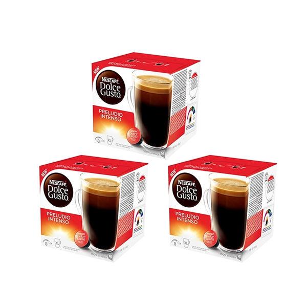 雀巢DolceGusto美式濃烈晨光咖啡膠囊(PreludioIntenso)(3盒組,共48顆)加贈黑人專業護齦抗敏感牙膏120g