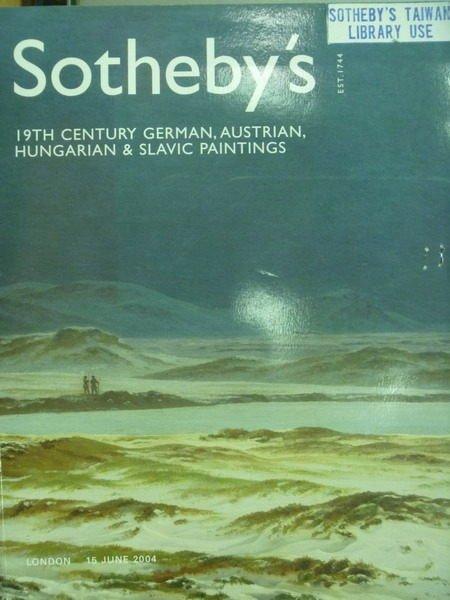 【書寶二手書T4/收藏_XDX】Sothebys_2004/6/15_19th Century German..