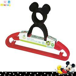 日本製 迪士尼 Disney 米奇 Mickey 造型立體頭 防滑衣架曬衣架一組3入 日本進口正版 300413
