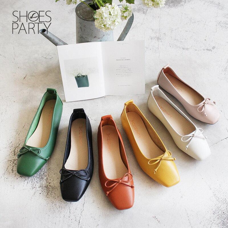 【F2-18910L】氣質小方頭芭蕾舞鞋_Shoes Party 0