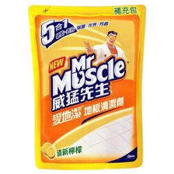 威猛先生 愛地潔地板清潔劑 補充包-清新檸檬 1800ml
