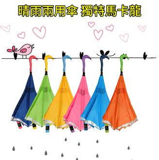 自動免持式反向傘創意雙層,鷹頭設計螺紋觸感持傘更輕鬆
