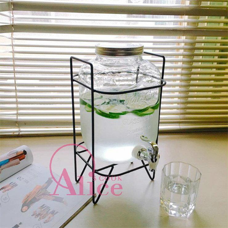 【現貨+預購】 韓國民宿使用款 玻璃無鉛梅森果汁桶專用304不鏽鋼龍頭|蓋子|鐵架|