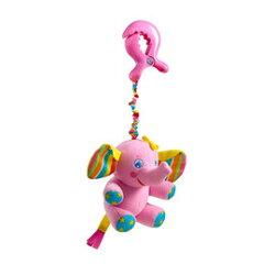 【同價位商品 第二件 66折】Tiny Love 夾偶-抖抖大象【隨身攜帶並可掛在嬰兒推車、提籃汽座及嬰兒床上】【紫貝殼】
