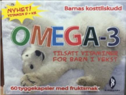挪威北極熊兒童魚油 OMEGA-3(60顆)→FB姚小鳳