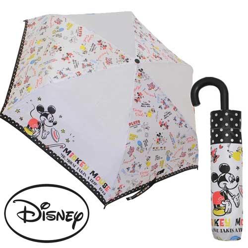 【日本進口正版商品】 迪士尼好朋友 米奇 米妮 唐老鴨 輕量型 晴雨傘 折疊傘 附傘套 - 059869