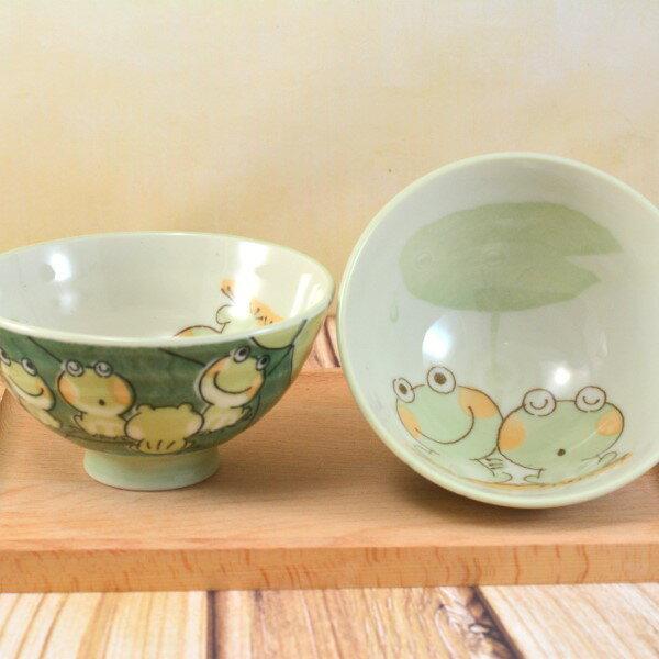 日本製美濃燒 青蛙手繪陶瓷碗 ( 5入 )飯碗 / 餐碗 / 碗