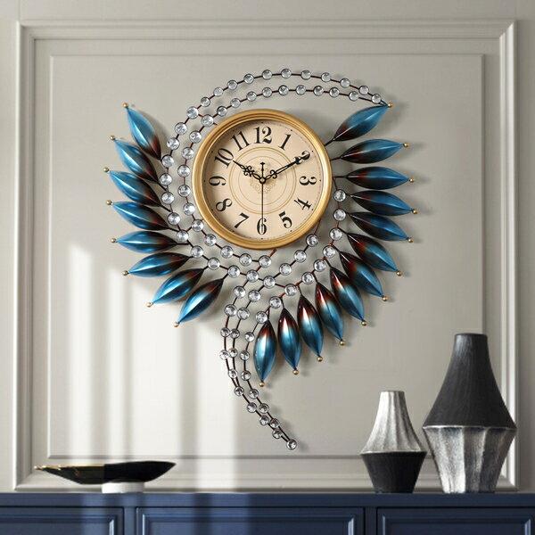 全館【88】折--掛鐘 歐式輕奢藝術鍾表掛鍾客廳家用時尚個性創意現代簡約大氣靜音時鍾