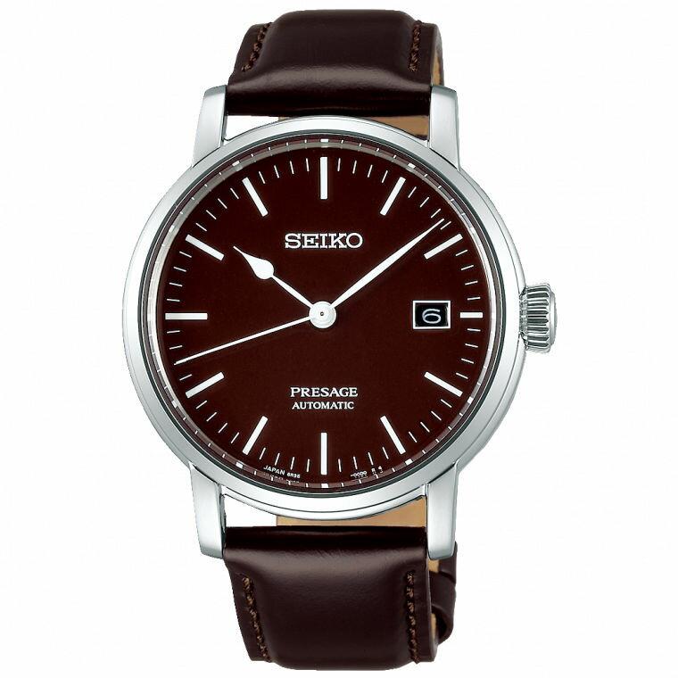 Seiko精工錶 Presage 6R35-00F0B(SPB115J1) 琺瑯工藝機械腕錶 / 紅棕色 39.9mm 0
