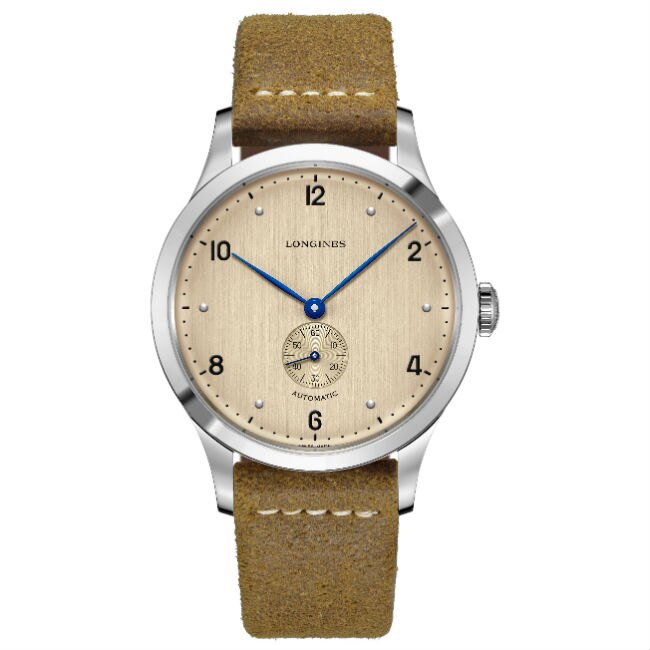 LONGINES 浪琴表 L28134660 復刻系列典雅多功能腕錶/銅面 40mm