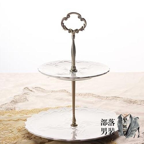 托盤果盤 下午茶點心架蛋糕歐式家用陶瓷雙層水果盤三層甜品台零食托盤