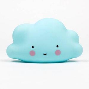 微笑雲朵造型夜燈(小)【藍色】寶寶台燈安撫燈可愛療癒無線小云朵【Limiteria】