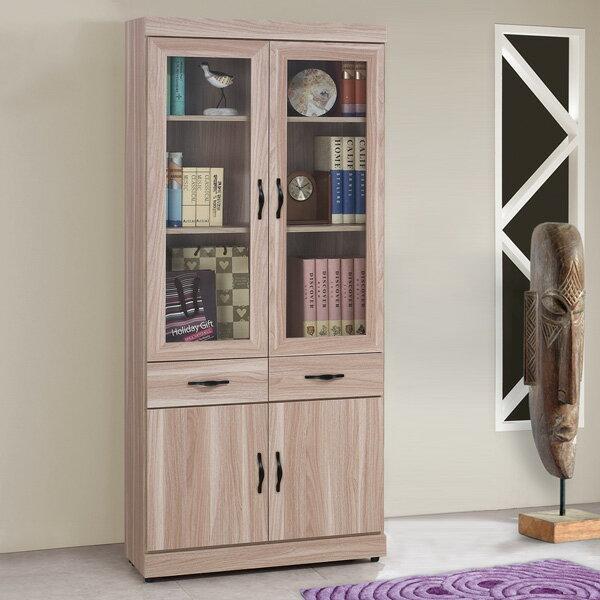 書櫃 有門書櫃 附抽書櫃 大型書櫃 收納櫃 櫥櫃 展示櫃 置物櫃 收納櫃《Yostyle》雪琪2.7尺中抽書櫃