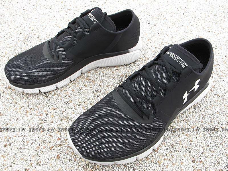 《下殺59折》Shoestw【1285677-001】UNDER ARMOUR 慢跑鞋 Speedform Fortis 2.1 黑灰 1