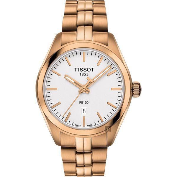 TISSOT天梭 PR100 經典石英女錶-玫瑰金 / 33mm T1012103303101 0