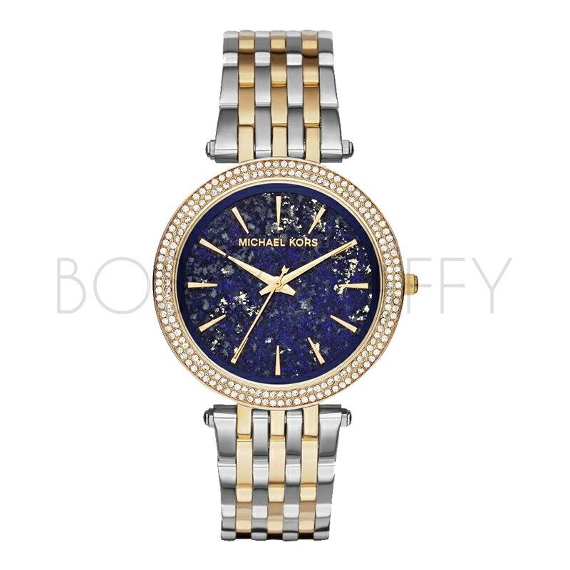 MK3401 MICHAEL KORS 時尚鑲鑽錶盤不銹鋼錶帶石英錶女錶