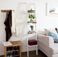 Haotian Modern ladder bookcase made of wood ,book shelf, stand shelf, wall shelf,FRG15-W