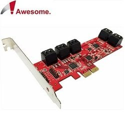 [富廉網] Awesome PCIe 2.0x10埠 AHCI SATAIII 6Gbps 擴充卡 AWD-PE-129